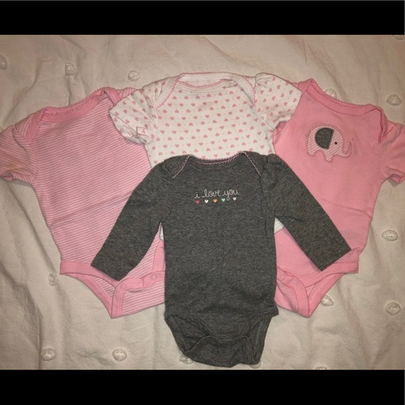 Carter's Other - Baby Girl Onesies - Lot of 4